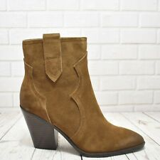 Womens ASH Esquire Brown All Leather High Heel Zip Up Ankle Boot UK 7 RRP £235