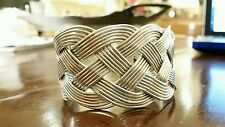 Taxco Sterling Silver Braided Bangle Made In Mexico 80+ grams