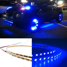 4Pcs Blue LED Strip Under Car Tube underglow Underbody System Neon Lights Kit