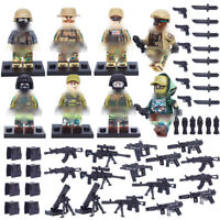 8pcs Military Marines Soldier Figures Building Blocks with Weapons Toys Bricks