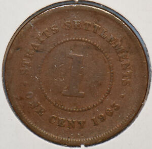 Straits Settlements 1903 Cent 294672 combine shipping