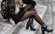 Zara Bordado Tobillo Botas Talla UK4 EUE37 US6.5
