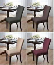 """STRETCH DINING CHAIR COVER""""PROTECT YOUR FURNITURE"""" SUBWAY TILE FITS 42"""" HIGH"""