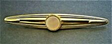NC898*) Vintage gold tone Mother of Pearl Bar brooch lapel pin