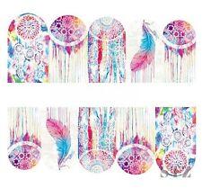 Nail Art Sticker Water Decals Transfer Stickers Colourful Dreamcatchers (BN305)
