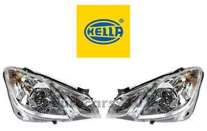 New! Mercedes-Benz Pair Set of Left & Right Halogen Headlights Hella