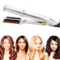 2 IN 1 Hair 2-Way Rotating Curling Straightener Curler Flat Iron Straightener