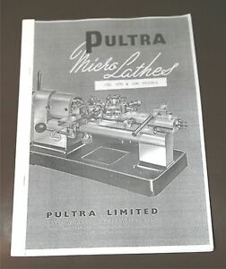 Pultra Micro Lathes Manual