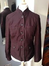 Wallis Brown Linen Jacket 16
