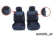 1+1 BLACK FABRIC FRONT SEAT COVERS FOR FIAT PANDA GRANDE PUNTO 500 BRAVO