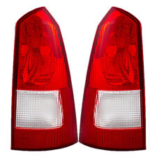 Pair Tail Lights fit 2000-2007 Ford Focus Wagon Taillamps Lens Red Housing Set