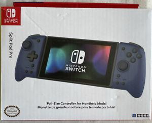 HORI Nintendo Switch Split Pad Pro Ergonomic Controller for Handheld Mode Blue