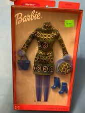 Barbie Fashion Avenue A Winter Day 25701 1999 NRFB  Sweater Dress Hat Boots Hose