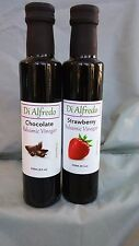 BALSAMIC VINEGAR 2 PACK ONE CHOCOLATE AND ONE STRAWBERRY  MODENA ITALY 8.5 OZ