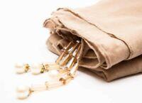 New Plain Viscose Dangle Pearls Maxi Scarf Hijab Large Cotton Shawl Wrap Crimp
