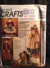 McCall's Crafts Pattern 5985 Great Bunny Coverup Uncut Draft Blocker Vacuum More