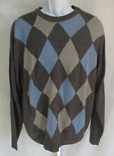 Dockers Mens Size L Argyle Arcrylic Sweater Long Sleeve Crew Neck Knit Top VGC