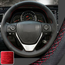 Hand Stitch on Wrap Steering Wheel Cover for Toyota 13 RAV-4 2014-18 Corolla New
