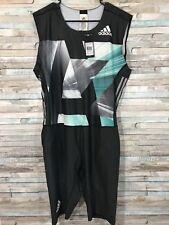 Adidas Mens 2XL AZ SS PU SUIT Track and Field Singlet Speedsuit Skinsuit NWT(U)