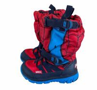 STRIDE RITE Winter Snow Boots Red Spider-Man Size 4 Made 2 play M2P Sneaker Boot
