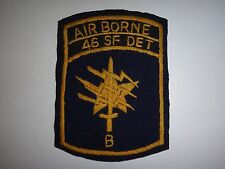 "US 46th Special Forces Company Detachment ""B"" AIRBORNE, Nam War Hand Sewn Patch"