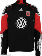 RARE~Adidas DC UNITED Soccer TRAINING FORMOTION Sweat Shirt-Jersey Top~Men sz XL
