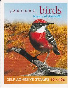 2001 Desert Birds 10 x 45c Stamp Booklet (SB145) - General Barcode