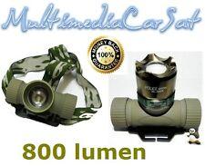 Torcia Testa Led Tattica Militare 800 lumen Ricaricabile Casco Luce Soft Air 27