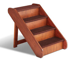 Solvit PupSTEP LARGE Wood Pet Stairs, Dog Ramp Steps #62351