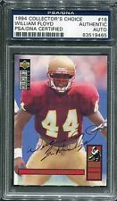 1994 Collectors Choice William Floyd Rookie #16 Signed Autograph PSA/DNA