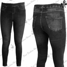 Jeans da donna jeggings, stretch nero denim