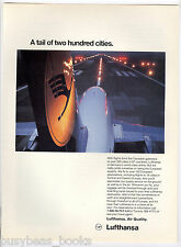 1994 LUFTHANSA advertisement, German Airlines Airplane tail, Canadian advert.