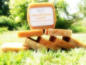 Oatmeal jojoba castor oil SheaButte turmeric shaving soap YlangYlang GoatsMilk