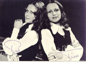 PAT + TINA STERN s/w Photo, selt. Originalautogramm aus den 70er