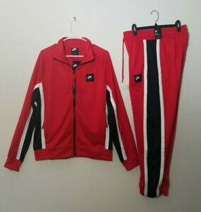 Nike Air Sportswear Men' Tracksuit 2 Piece New Red Authentic 2 Piece Matching