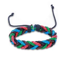 Leather Bracelet Adjustable Size Handmade Lace Up Clasp L468
