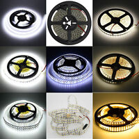 16.4ft 5M 2835 3014 3528 SMD 300/600/1200 LED Flexible Light Strip Light DC 12V