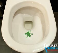 FROG AIM Toilet Funny Sticker Bathroom Decal Vinyl Wall Art POTTY TRAINING kids