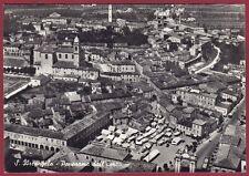 RIMINI SANTARCANGELO DI ROMAGNA 22 VEDUTA AEREA real photo viagg. 1956