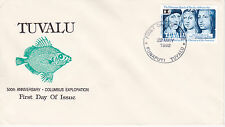 1992 500th ANNIVERSARY OF CHRISTOPHER COLUMBUS EXPLORATION FDC - TUVALU