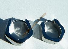 Boucles d'Oreilles Acier Créoles Fer à Cheval Argenté