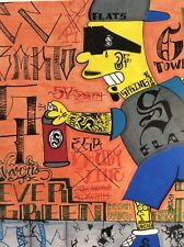 The Simpsons, Bart Artwork Poster. El Barto / Graffiti style artist SkriptKilla