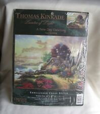Thomas Kinkade A NEW DAY DAWNING Embellished Cross Stitch Kit  #50994