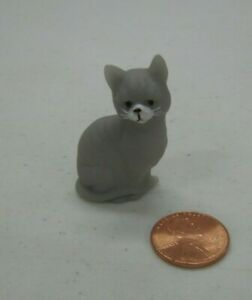 GREY CAT PET for Fisher Price Sweet Streets Dollhouse Shop Mini Loving Family