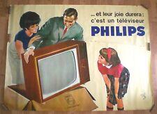 AFFICHE PHILIPS – TELEVISEUR – R.GELENG – AFFICHE ORIGINALE - TRES RARE – 1960
