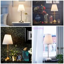 IKEA ARSTID Table Lamp Nickel-Plated white  - Brass/white NEW