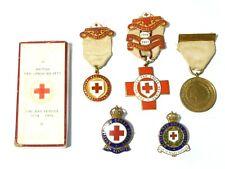 More details for 6 x ww1 british red cross medals enamel badges war service ruth roper