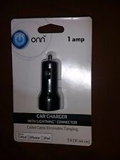 Car Charger with Lightning Connector Apple Products 1 Amp Iphone, etc
