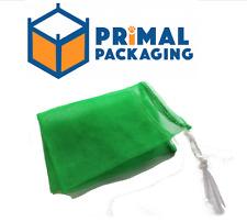 100 x Net Bags for Wood/Kindling | Leno Mesh |GREEN (38x50cm)