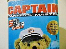 "Designer Sally Stringer Signed ~ 15"" Texaco Bear Captain 2001 5th Edition w/Bag"